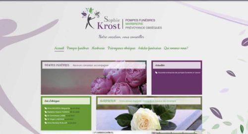 Site internet pompes funebres Sophie Krost