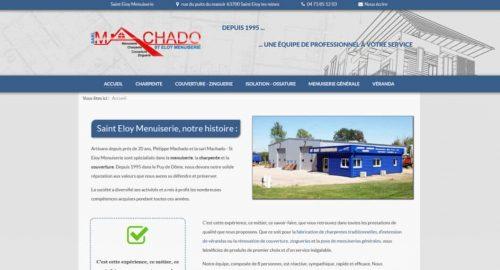 Site internet Saint Eloy Menuiserie